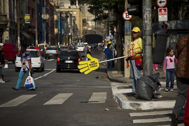 Sao Paolo Protecting Pedestrians