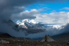 Nomad's Tent At Chomolungma (Amicus Telemarkorum) Tags: china mountain mountains nature weather june clouds tibet himalaya northface everest basecamp sagarmatha 2011 chomolungma jeffrueppelphotography