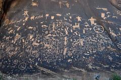Newspaper Rock (David M Hogan) Tags: utah sandstone canyonlandsnationalpark petroglyphs newspaperrock coloradoplateau southwestroadtrip2011