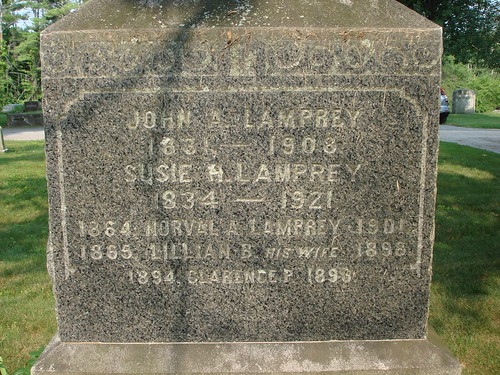 Tombstone Tuesday: Lamprey Family by midgefrazel