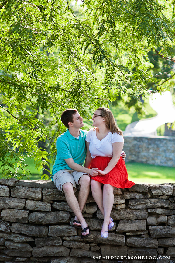 Nelson-Atkins Museum of Art Kansas City engagement photography