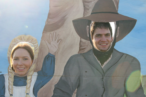 Christina, 21, and Will, 26, as Mary and Pa at the Laura Ingalls Wilder Pageant, July 2011.