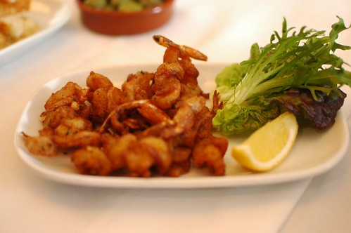 Szechuan fried prawns with pickled chilli and soy