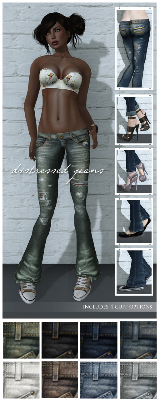 {Zaara} Denim : Distressed jeans details
