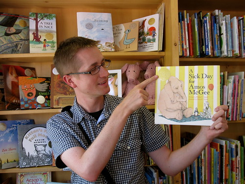 Mr. Schu Shows Off This Year's Caldecott Winner