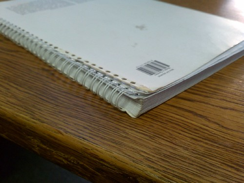 Spine of Whitelines Notebook