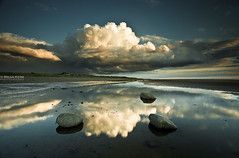 Summer Clouds (.Brian Kerr Photography.) Tags: sunset sea summer sky seascape beach clouds canon reflections landscape sand rocks shore cumbria newtown solway silloth maryport allonby mawbray robinrigg eos5dmkii seacroftfarm