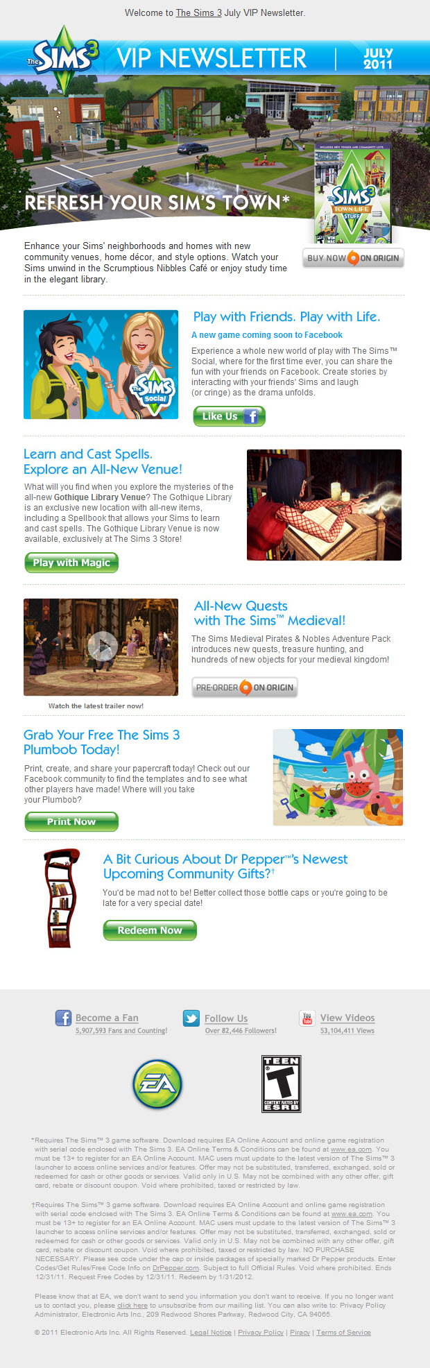 The Sims 3 VIP July Newsletter