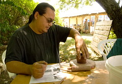 Clay at the farmers' market (chasdobie) Tags: ontario canada rural community nikon ceramics artist farmersmarket crafts potter clay lanarkcounty mcdonaldscorners