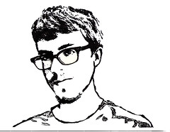 Sharpie Drawing 3 (Nancy Menagh) Tags: portrait blackandwhite man drawing sharpie