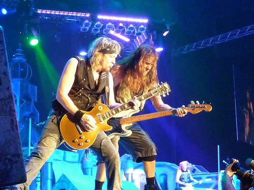 Adrian Smith and Steve Harris