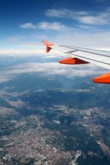 Lago di Como (Katka S.) Tags: from above city sky italy lake como alps clouds plane landscape lago wing jet di easy easyjet
