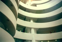 Curves (benanaphone) Tags: nyc film lines museum architecture analog canon ae1 guggenheim rotunda
