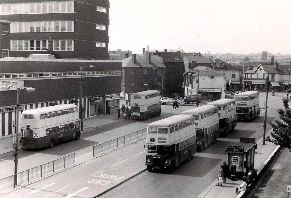Six Daimlers - St Pauls Street, Walsall 1975