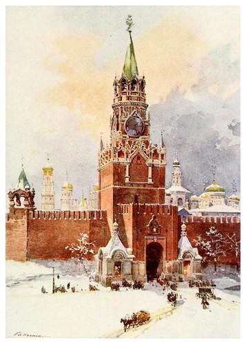008-La torre del Salvador en el Kremlin-Russia-1913- F. de Haenen