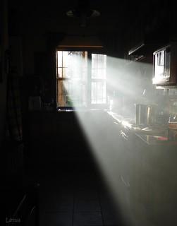 El sol en la cocina