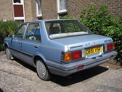 1986 Nissan Sunny Spirit 1.3 GS (GoldScotland71) Tags: edinburgh nissan belmont spirit garage sunny 1986 1980s gs datsun dealer c851vsf