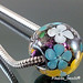 Charm Bead : Dichroic Flower Blossom
