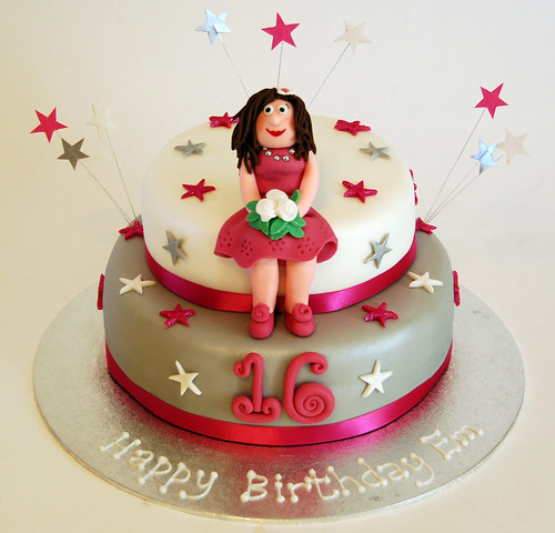 Wondrous Sweet 16 Birthday Cake Beautiful Birthday Cakes Personalised Birthday Cards Veneteletsinfo
