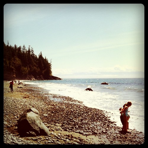 More from Mystic Beach, Vancouver Island. In the far, far distance, you might be able to see Washington State.
