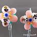 Earring : Pink Bee Flower Blossom