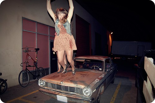 jumping from car.