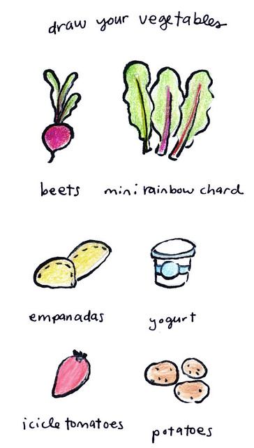 Draw Your Veggies - July 21