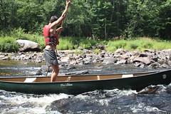 Poling the Machias sidechannel (salmonhabitat) Tags: fun dmr westbranch