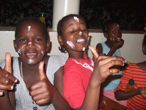 Chabetty, Zainabu enjoying the cake !!