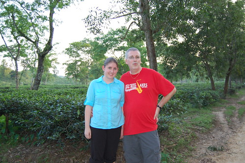 Iona and justin in tea garden