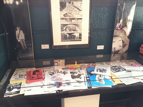 Zine collection on display at the Fantagraphics Bookstore & Gallery