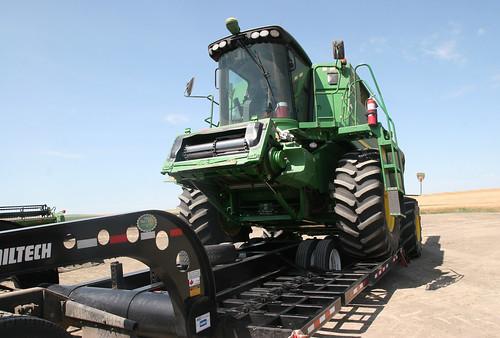 James loading his combine.