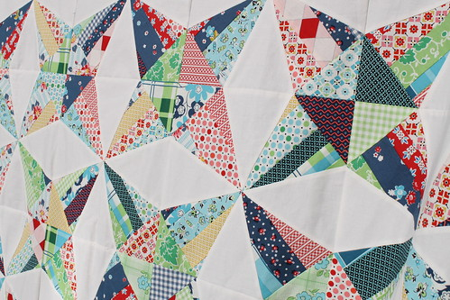 close up-Kaleidoscope Quilt