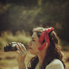 The Orchard (Ana Lusa Pinto [Luminous Photography]) Tags: red girl writing desert silk story henry ribbon sylvia week30 52weeks
