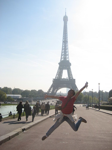 Paris, France - Jumping Shot