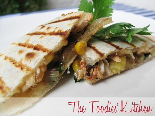 Pineapple and Chicken Quesadillas