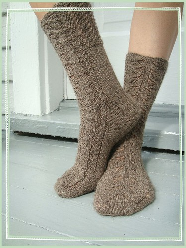 birch leaf socks
