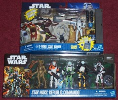 New Star Wars Purchases (Darth Ray) Tags: trooper star republic action delta scout sw wars squad clone bomber figures pilot commando hasbro ywing