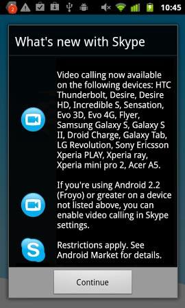 Skype for Android รองรับ Video call ในมือถืออีก 17 รุ่น