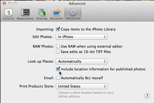 Advanced iPhoto '11 - Include location information for published photos