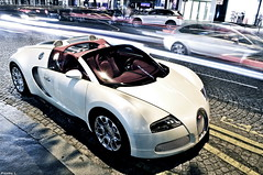 Bugatti Veyron Grand Sport (Pierre Legrand) Tags: summer paris france sport night photography george hp nikon triangle shot nightshot pierre champs elyses july grand v arab 164 1855 nikkor dor bugatti supercar barriere ch qatar w16 1001 veyron d300 2011 legrand fouquets molsheim hypercar worldcars