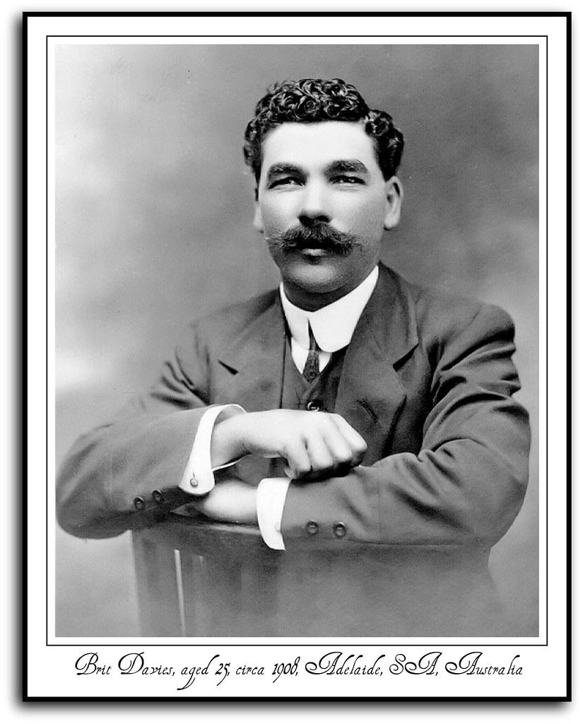Brit Davies, aged 25, circa 1908, Adelaide, SA, Australia