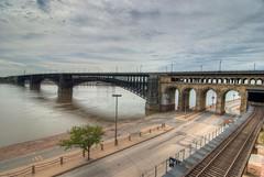 Eads Bridge (k.landerholm) Tags: bridge flickr stlouis missouri hdr missouririver eadsbridge 3xp d80