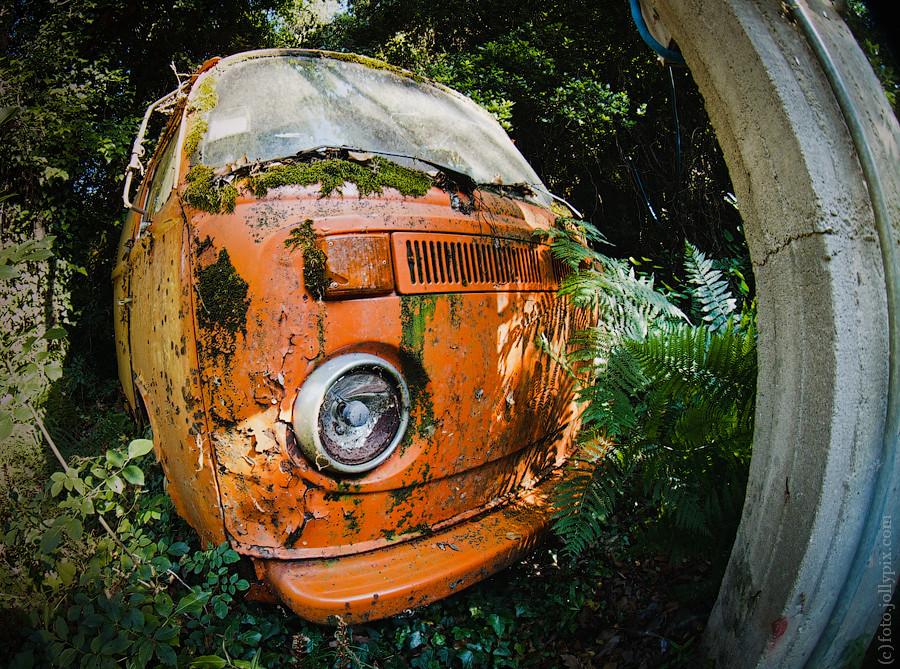 Abandoned old Volkswagen