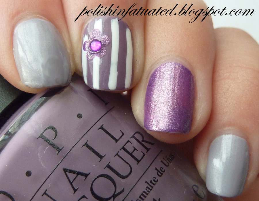 purple nail art skittle1