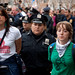 Female protesters being arrested on the Brooklyn Bridge Occupy Wall Street October 1st