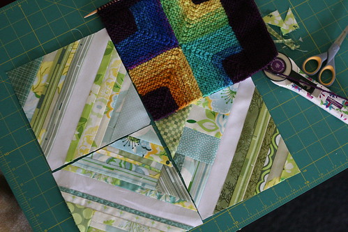 when quilting meets knitting