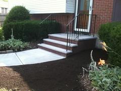 Stone tread stairs