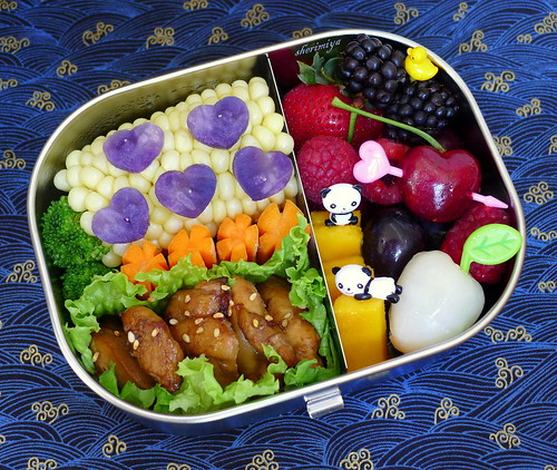 Colorful Bento Of Hearts by sherimiya ♥