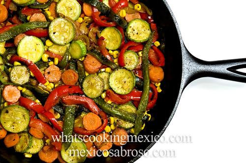 Rajas with zucchini